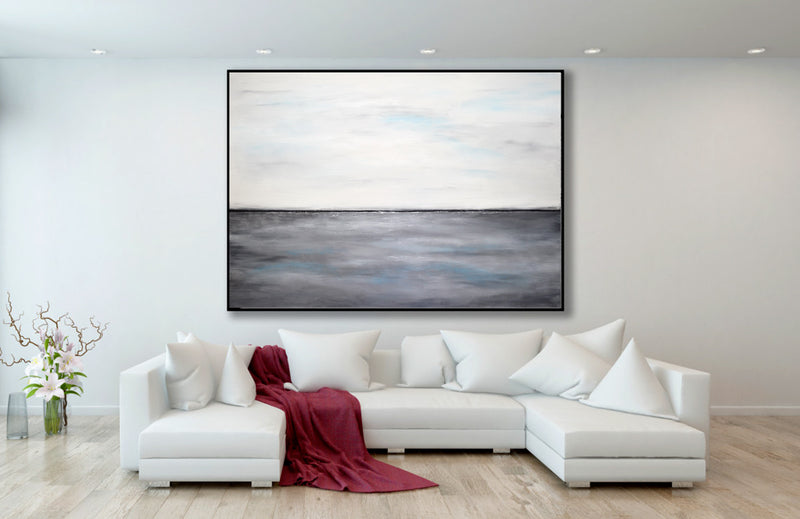 gray white landscape art
