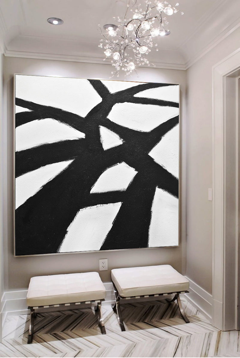 xxl black and white painting kline