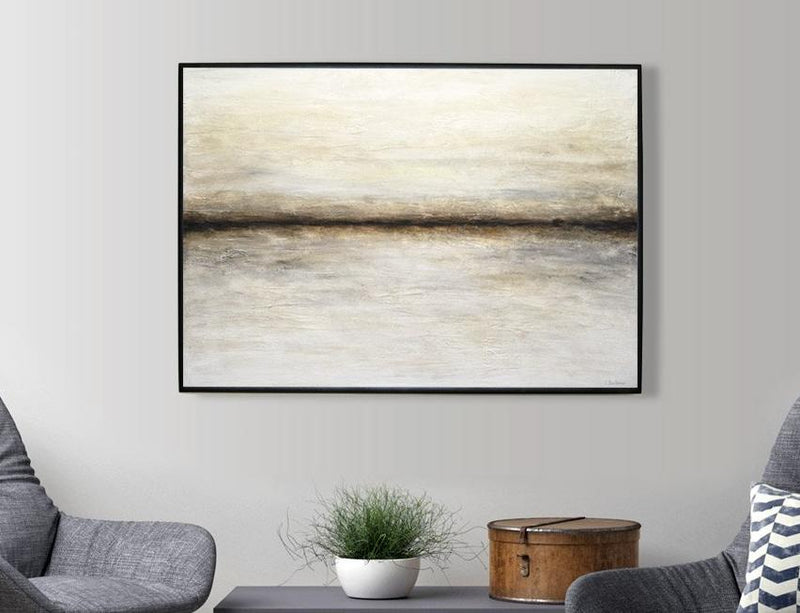"""Driven"" Original textured landscape abstract painting"