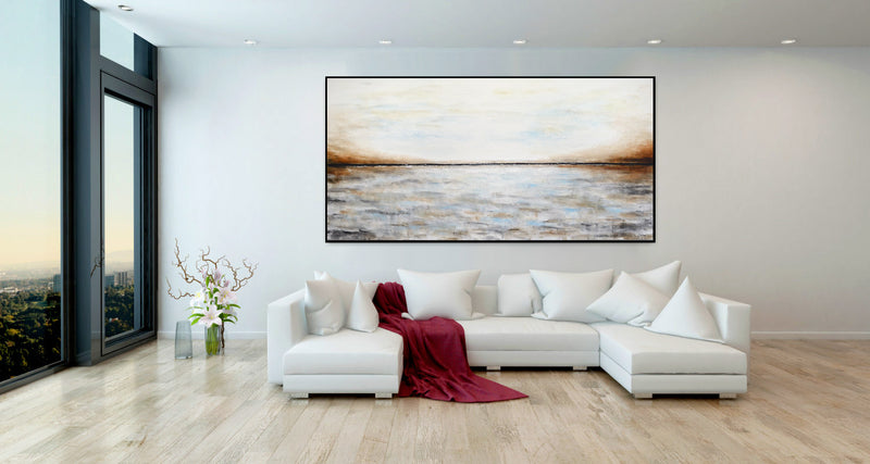 abstract landscape seascape painting gallery home decor