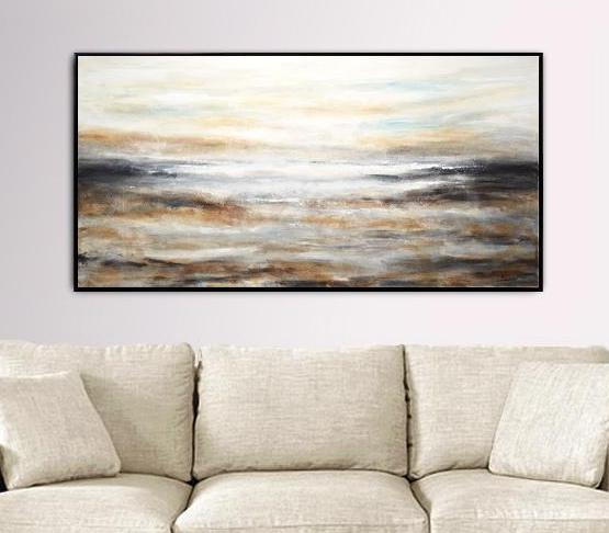 24 x 48 wall art design abstract painting landscape