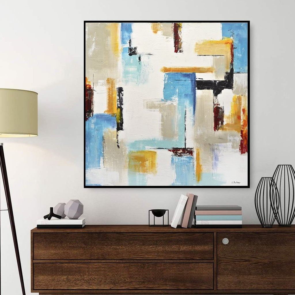 home decor abstract painting square contemporary art