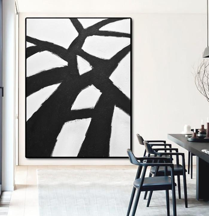 minimalism black and white kline art