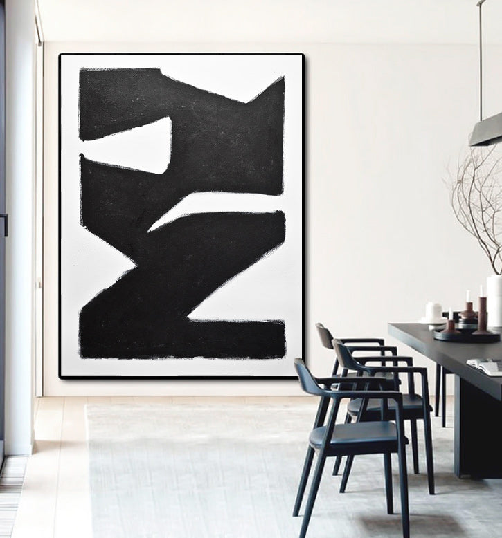 kline style black and white abstract