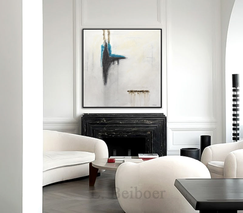 wall art artwork black white abstract painting