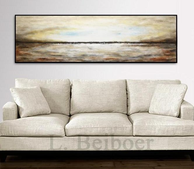 20x72 panoramic umber landscape painting