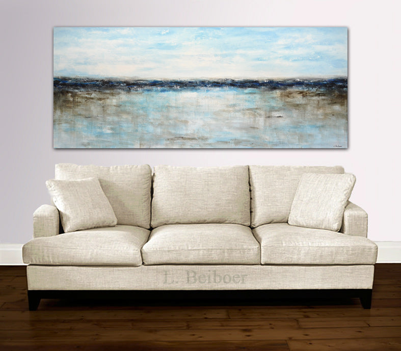 artwork XXL blue abstract landscape
