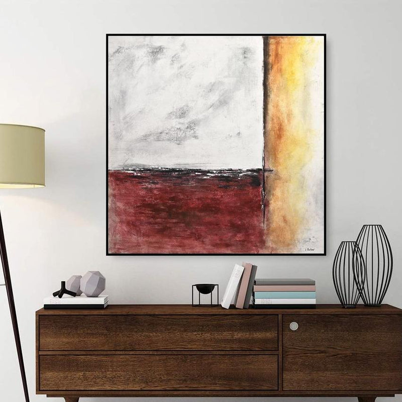 red brown gray abstract painting
