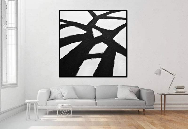 """Better Times"" Black and white minimalism abstract art"