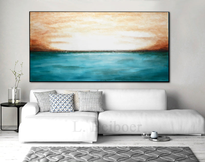 large panoramic abstract seascape ocean art beiboerfineart.com