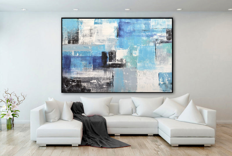 massive abstract painting interior design wallart