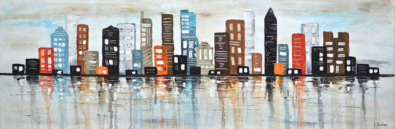buildings skyline abstract artwork