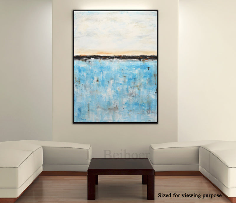 turquoise painting abstract modern design