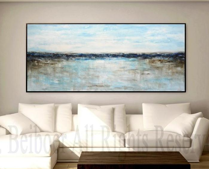 blue panoramic large landscape artwork wallart