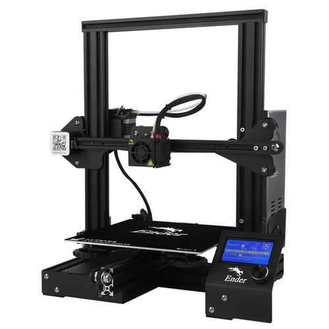 Creality 3D?® Ender-3 Prusa I3 DIY 3D Printer Kit 220x220x250mm Printing Size With Power Resume Function/V-Slot with POM Wheel/1.75mm 0.4mm Nozzle
