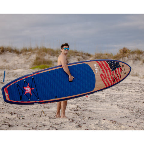 Image of MALAKAI - 11'6 OLD GLORY SUP & CARBON FIBER PADDLE