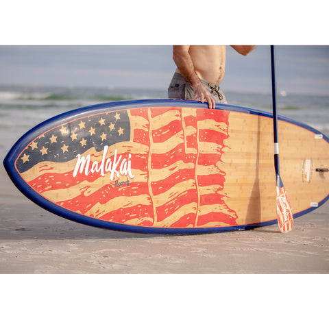 Image of MALAKAI - 11'6 OLD GLORY SUP & CARBON FIBER PADDLE - Bellasol Boards