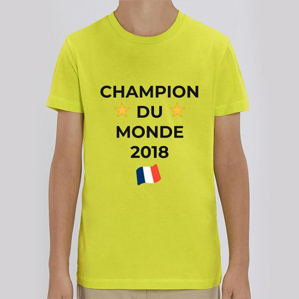 Tee Shirt Enfant UNISEXE - Champion du Monde 2018 (non-officiel)