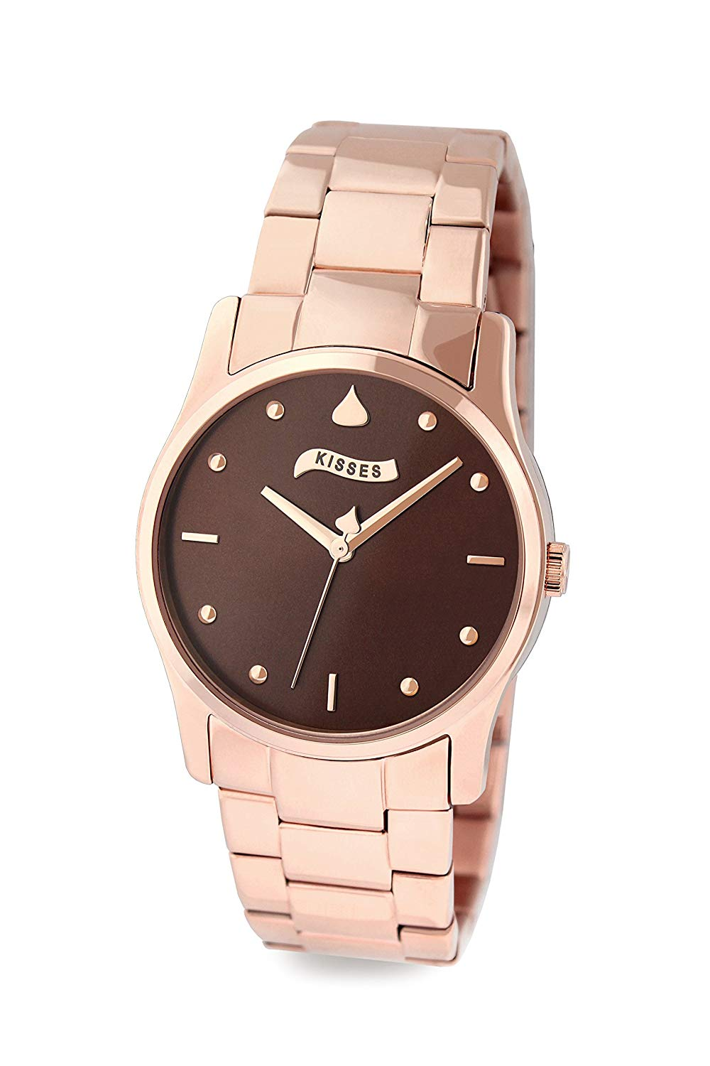 Simpy Kisses Rose Gold Plated Ladies Watch