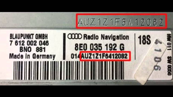 How to find my Audi A3 Radio Code