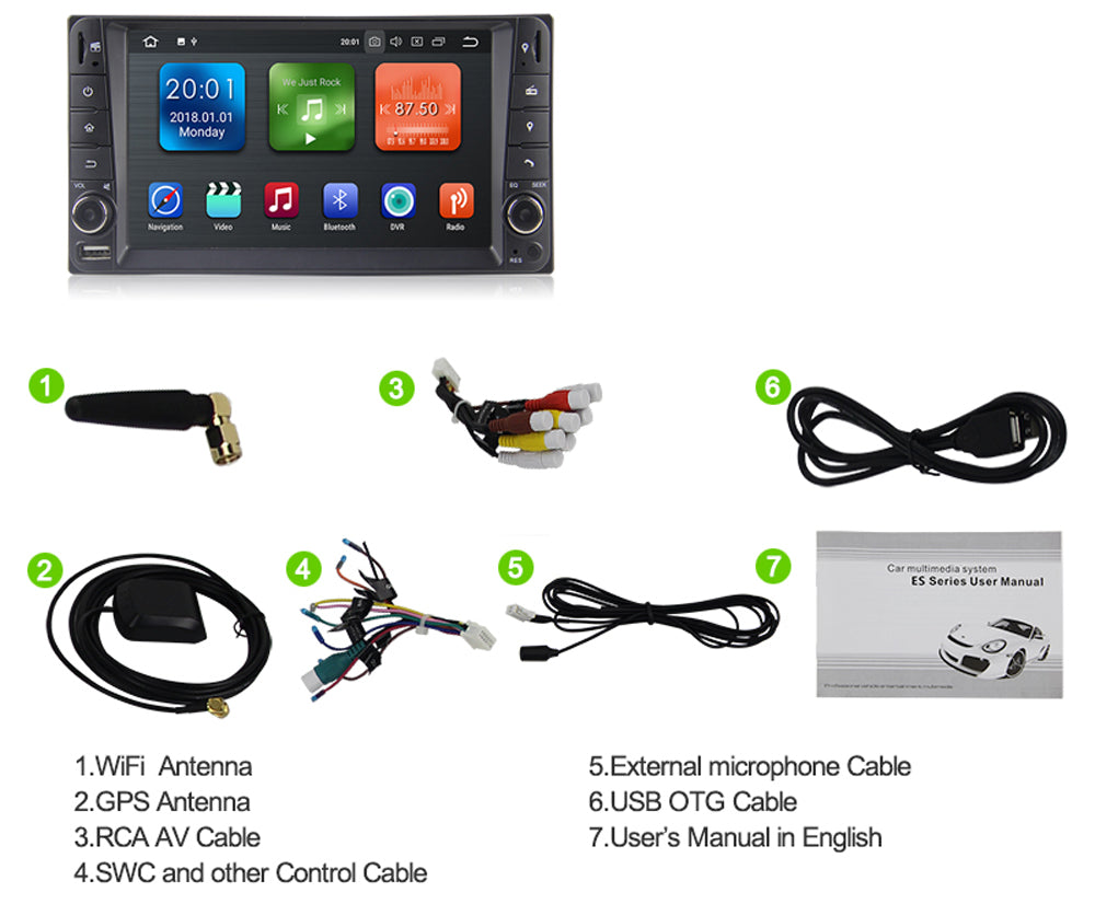 2000-2011 Toyota Corolla 2 Din Android Car Stereo