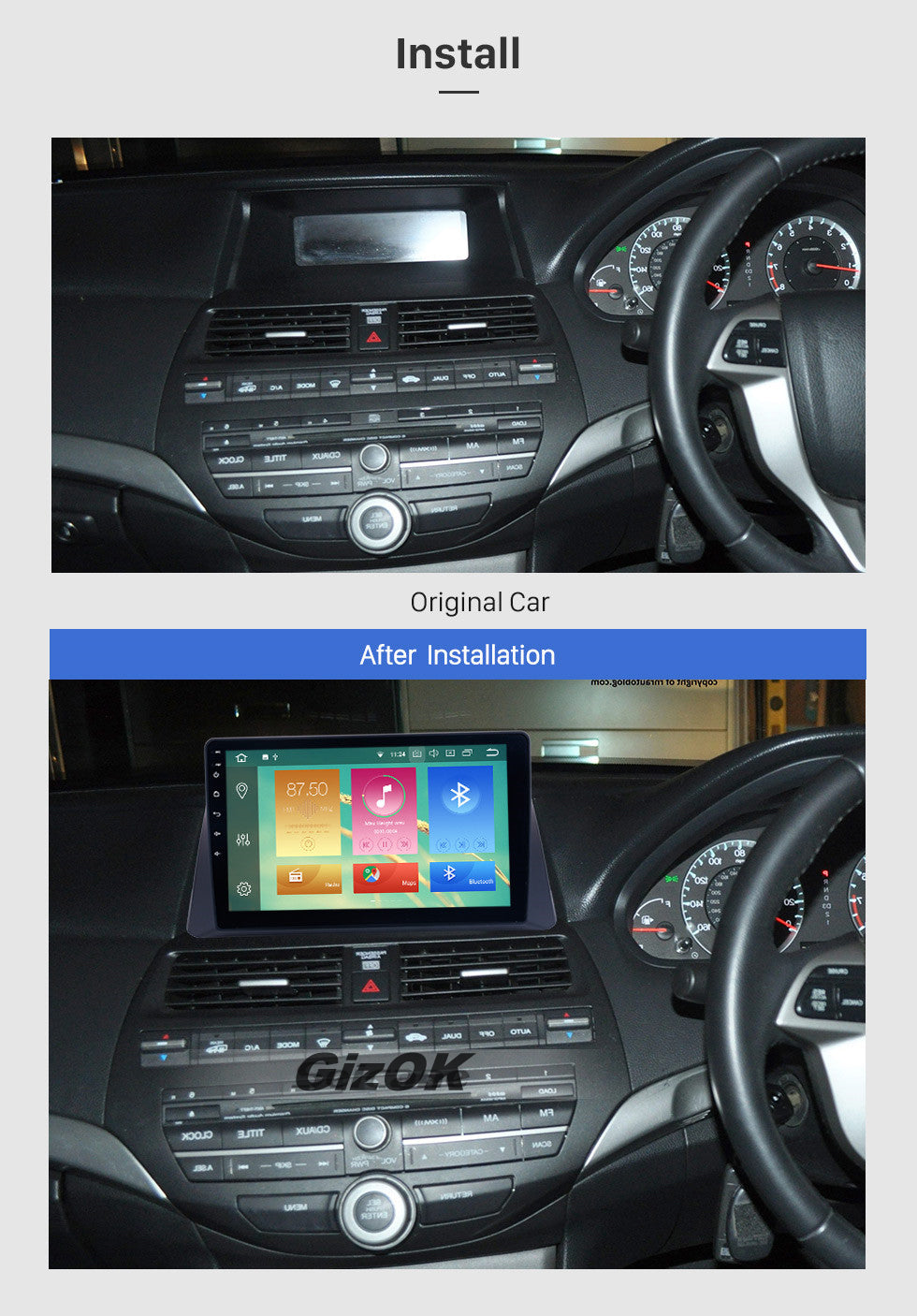 2008-2012 HONDA ACCORD 8 4G WIFI Car GPS Navigation System
