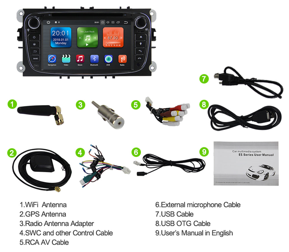 2009, 2010 Ford Focus Android Car Stereo