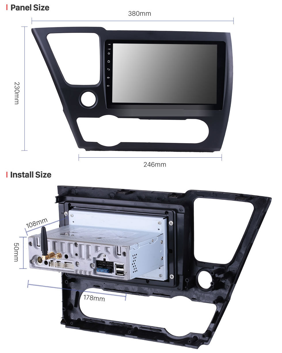 2014-2017 Honda Civic Car Stereo GPS Navigation