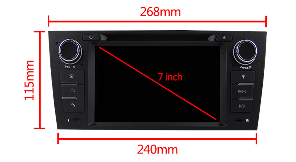 3 Series BMW E90 E91 E92 E93 318 320 325 Car Stereo