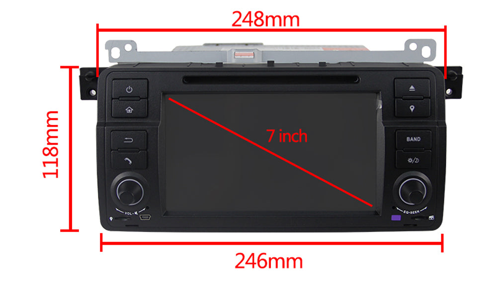 Bmw E46 M3 Android 8 1 Car Stereo With 7 Inch Touch Screen