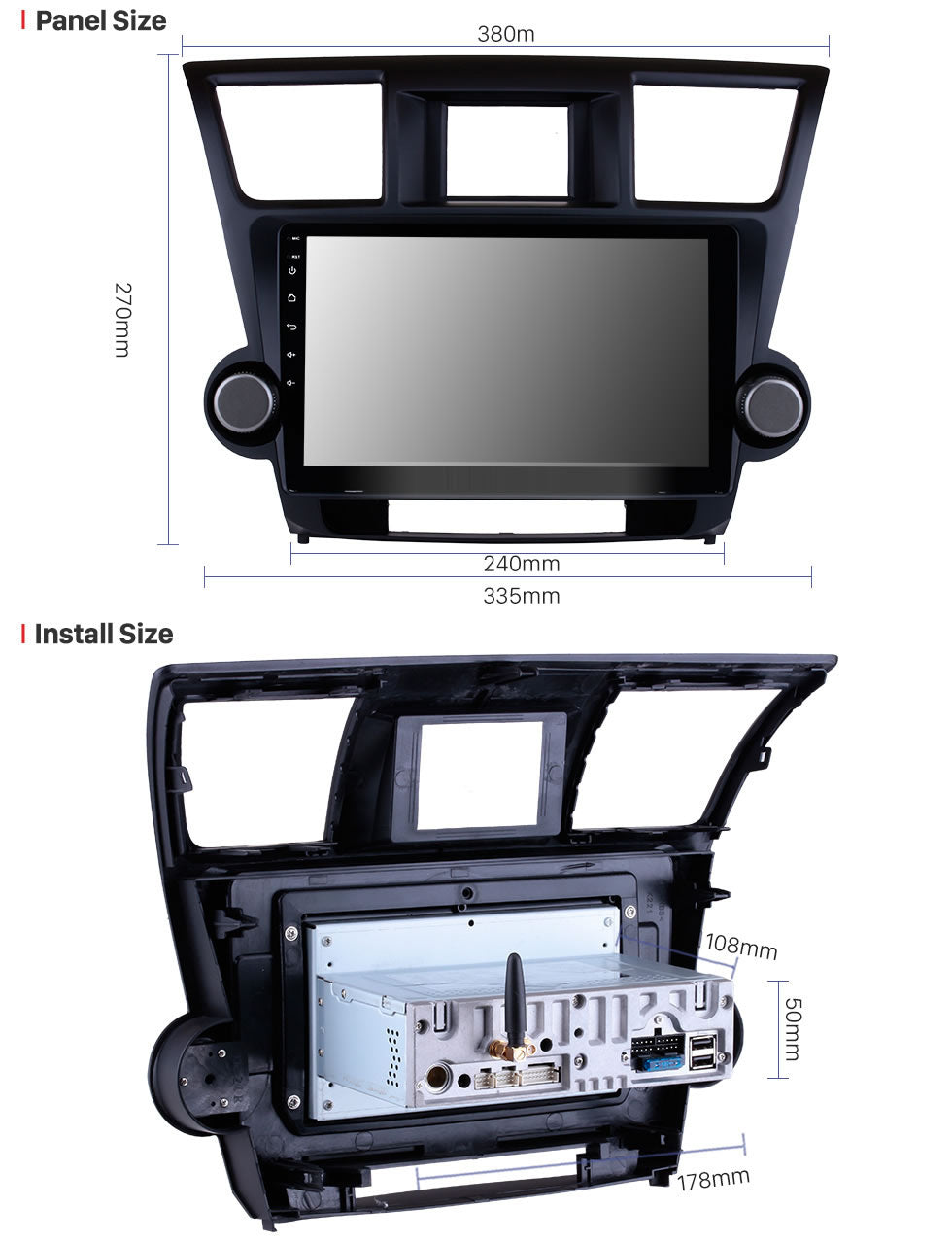 2008-2014 Toyota Highlander Car GPS Navigation