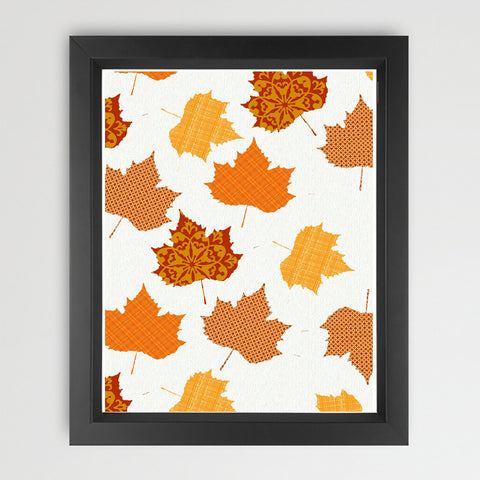 Maple Leaves in Autumn Art Print