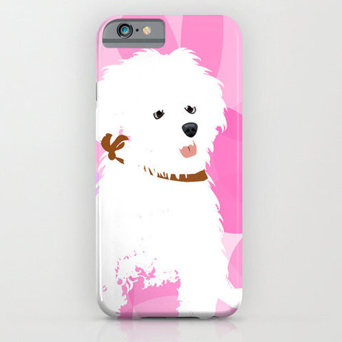Bichon Frise Dog On Phone Case