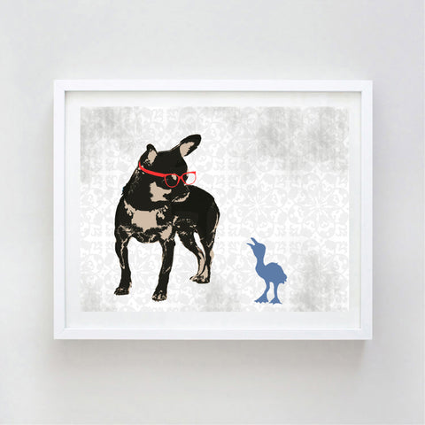 Black Tan Chihuahua Dog Art Print