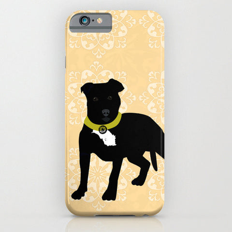 Black Staffordshire Bull Terrier on Phone Case