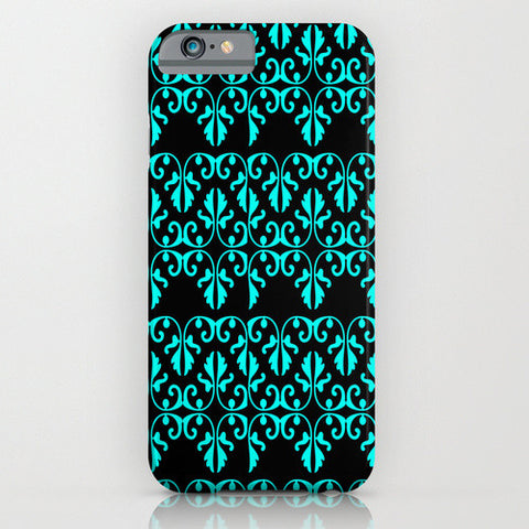 Blue Pattern On Phone Case