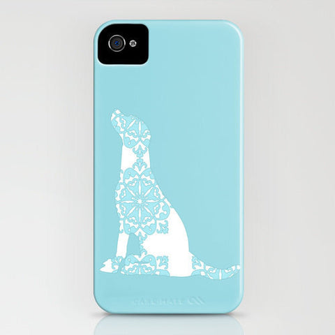 Labrador retriever dog a on blue phone case