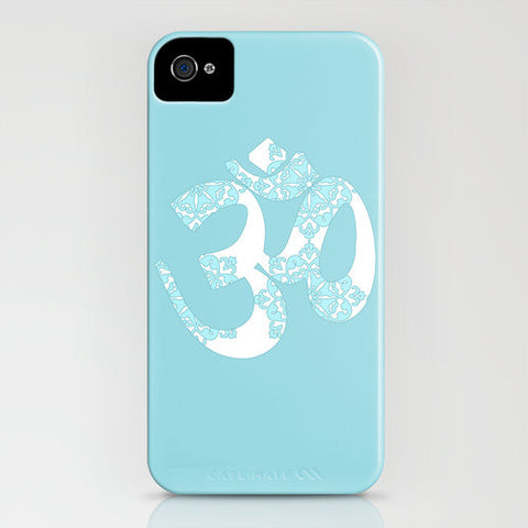 OM On Blue Phone Case