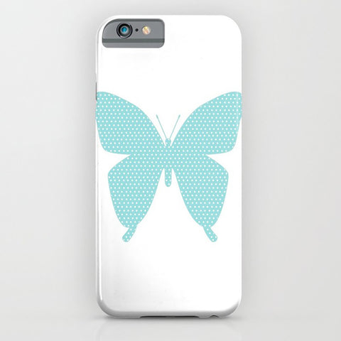 Butterfly with Blue Polka Dot phone case