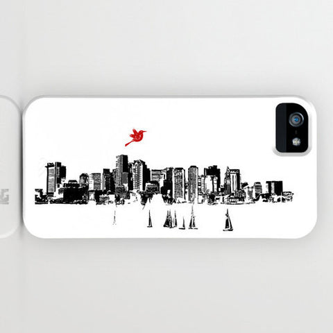 Boston City Skyline On Phone Case