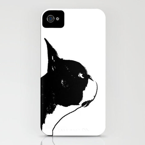 Boston Terrier Dog On Phone Case