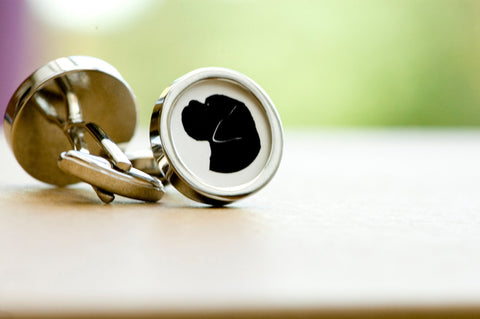 Boxer dog on your cufflinks