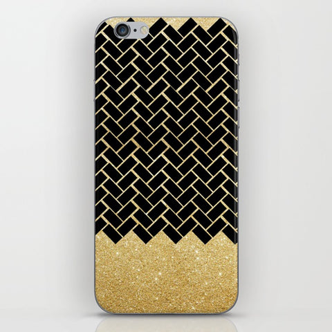 Geometric Patterns Bricks on the Phone Case