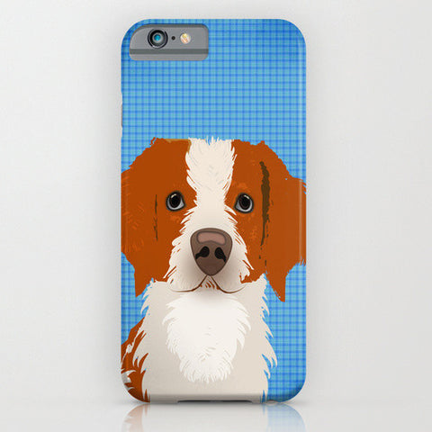 Brittany Spaniel Dog on Phone Case