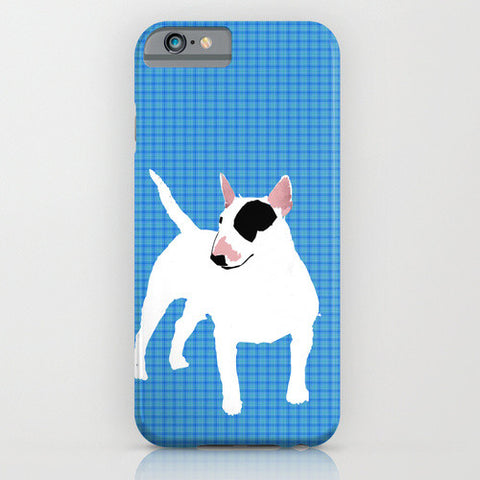 White English Bull Terrier Dog on Phone Case