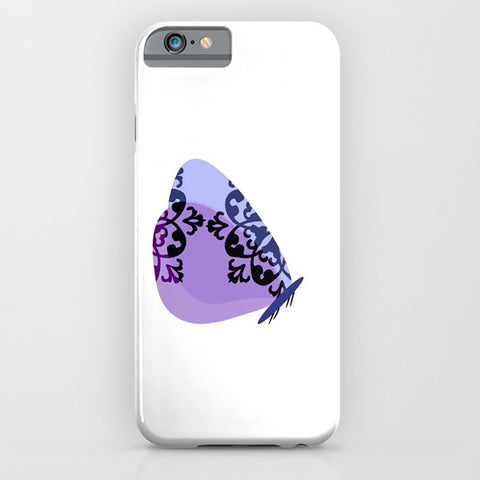 Butterfly In Purple designs on the phone case
