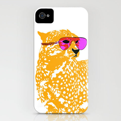 Cheetah With Sun glasses on phone case