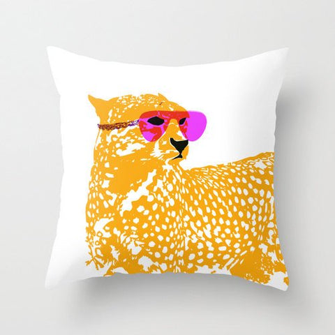 "Cheetah On Cushion 18"" x 18"" - Novelty Cushion, Cushion , nursery Cushion, cheetah, nursery Cushion"