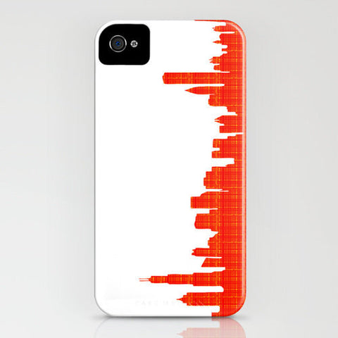 Chicago on Orange Pattern Phone Case