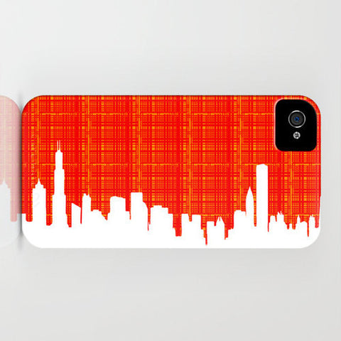 Chicago Skyline Silhouette on Phone Case